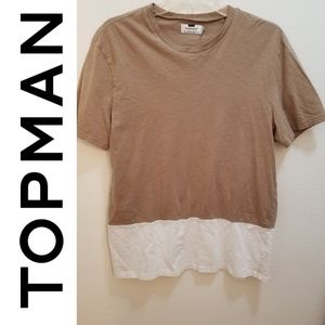 TOPMAN - Tan Short Sleeve Top